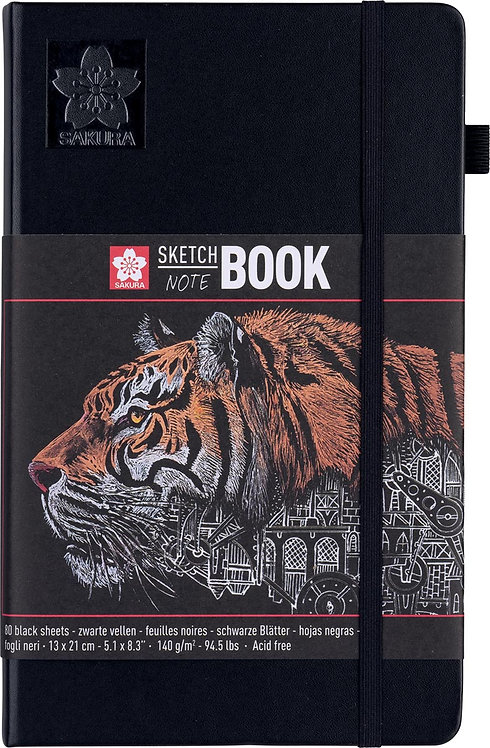 Sakura schetsboek zwart papier
