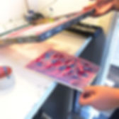 GROEPEN: Monoprint zeefdruktechniek