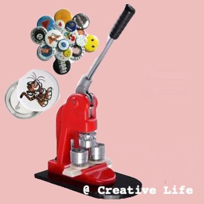 Do Impress Yourself uur, buttons maken @ Creative life