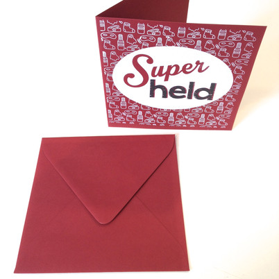 ambachtelijk gedrukt kaartje, handprinted stationary