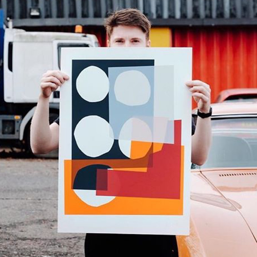 Workshop monoprint screenprinting by Jonathan Lawes (1)
