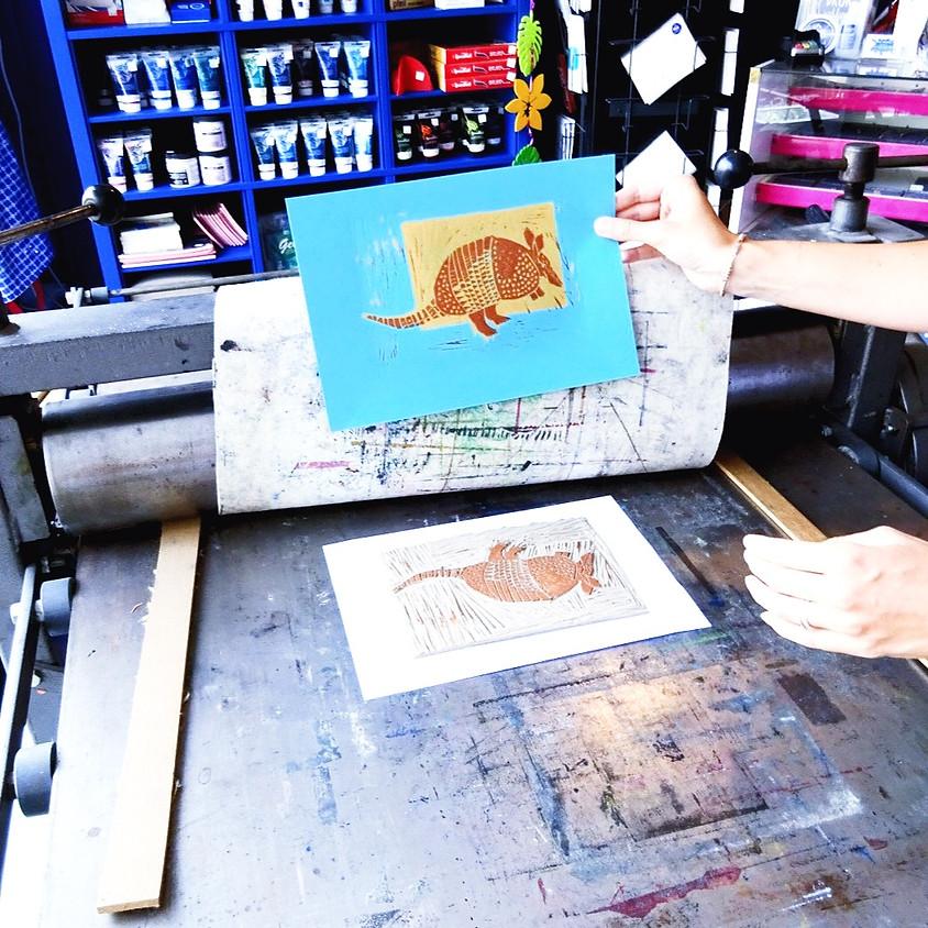 Workshop linosnijden meerkleurendruk