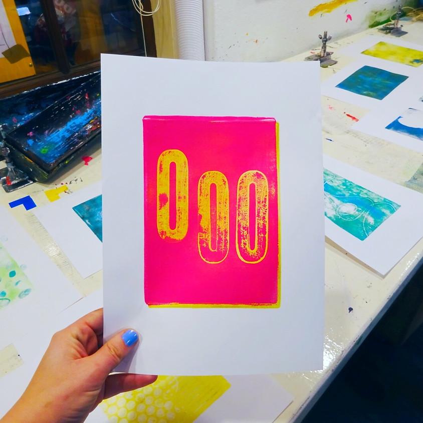 Workshop gelprinting en collage