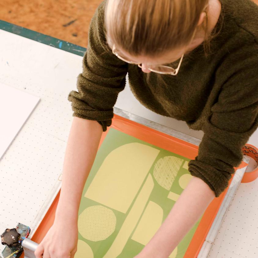 Workshop zeefdrukken a la Carlijn Timmermans