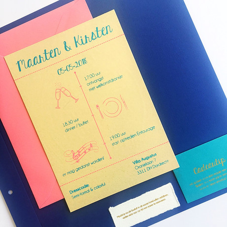 trouwkaart, weddingcard, save the date, handpulled stationary