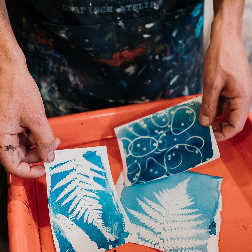 Workshop cyanotype door Michael van Kekem