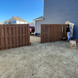 Fence Staining Customer