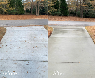 Concrete Driveway Cleaning