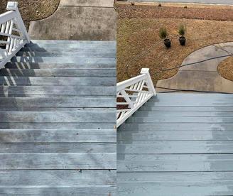 Soft Wash Front Porch