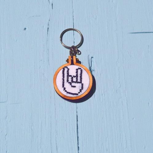 "Porta-chaves "" Hand Rock"""