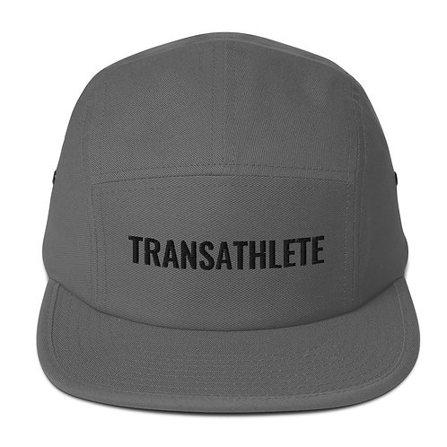 TRANSATHLETE Grey Embroidered Five Panel Cap