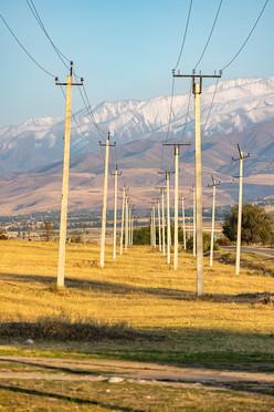 Электрические столбы в Байтике