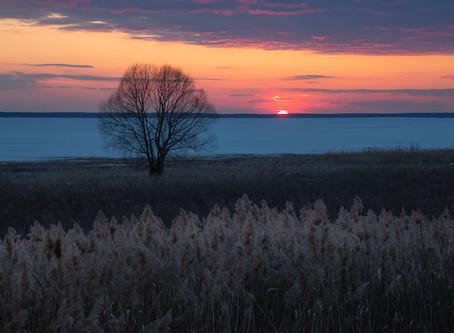 Шикарный закат в Переславле-Залесском