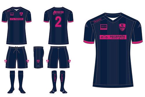 Russell Lea Women's Soccer Club uniform flatlay
