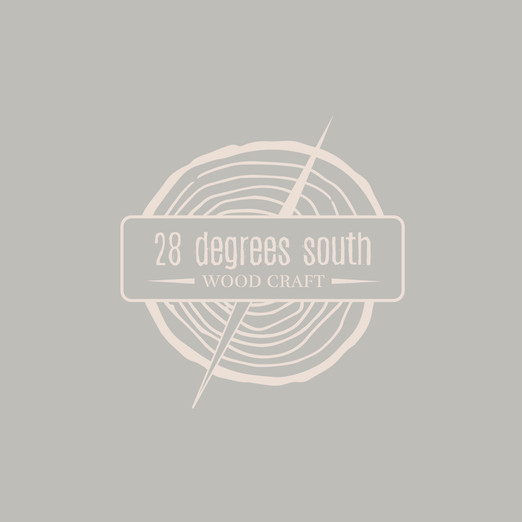 28 Dgrees South Woodcraft Logo Design by Wild Honey Creative