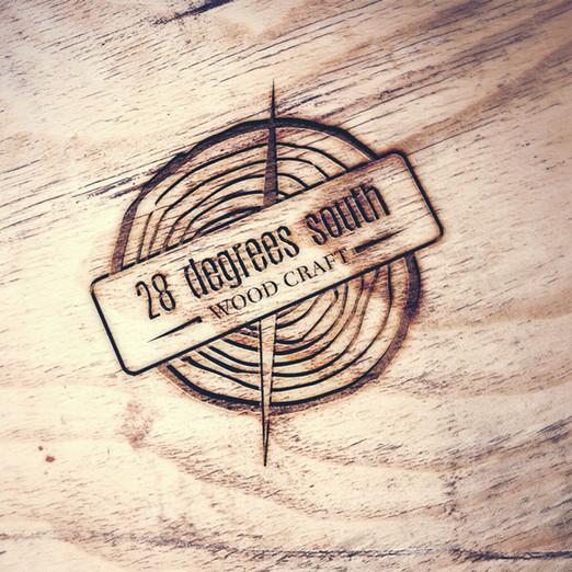 28 Degrees South Woodcraft Logo