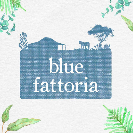 Blue Fattoria Logo Design by Wild Honey Creative