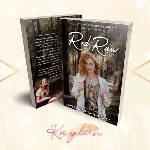 Red Raw Book Cover Design by Wild Honey Creative