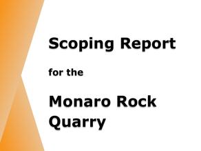 Scoping Report released