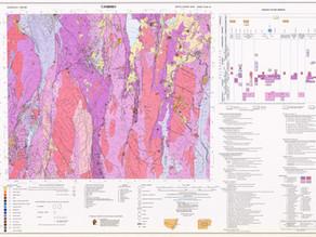 Geological Survey Map from Geoscience Australia