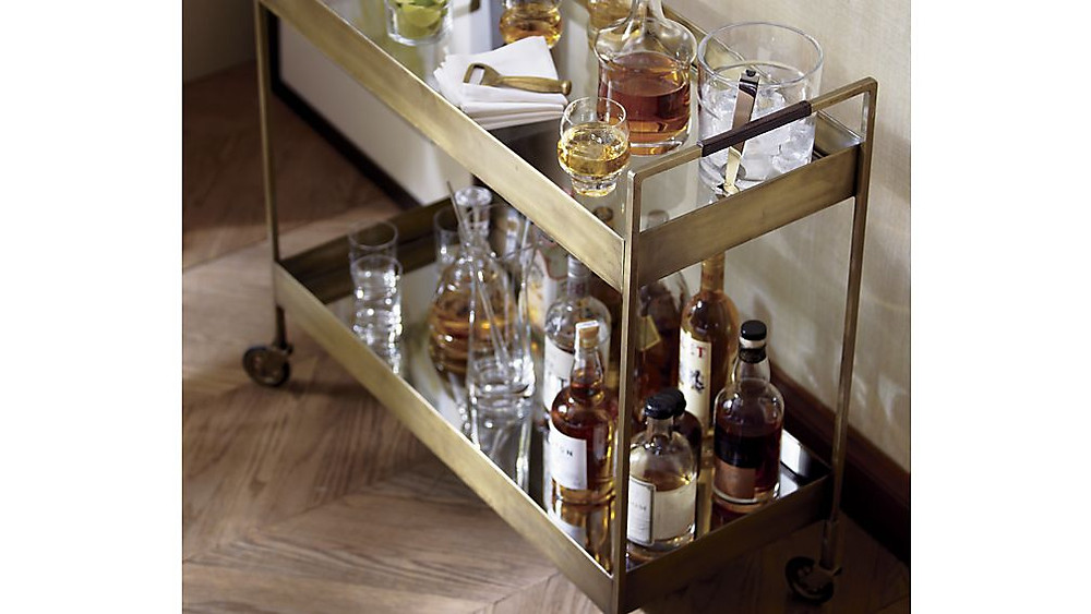 Libations Cart at Crate and Barrel - it makes you want a drink right?