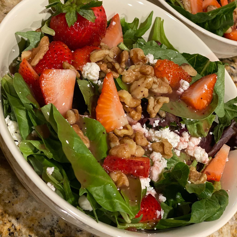 Strawberry, Walnut and Feta Spring Salad