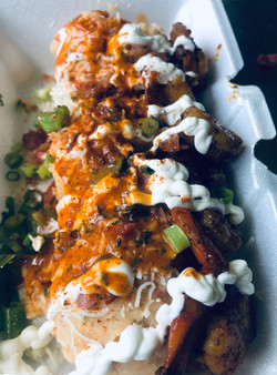 Seafood Loaded Cajun Mashed Potatoes
