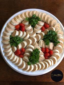 Smoked Chicken Salad Pinwheels