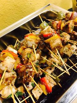Teriyaki Glazed Chicken Kabobs