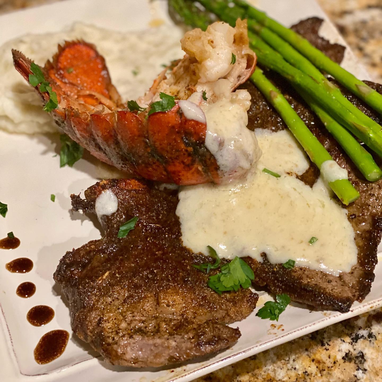Ribeye Steak Oscar