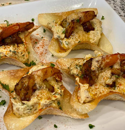 Spinach & Crab Stuffed Wonton Crisp