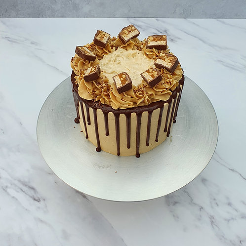 """6"""" Snickers Cake"""
