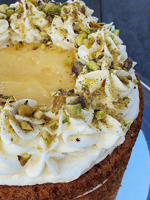 Lemon, Courgettes & Pistachio Cake
