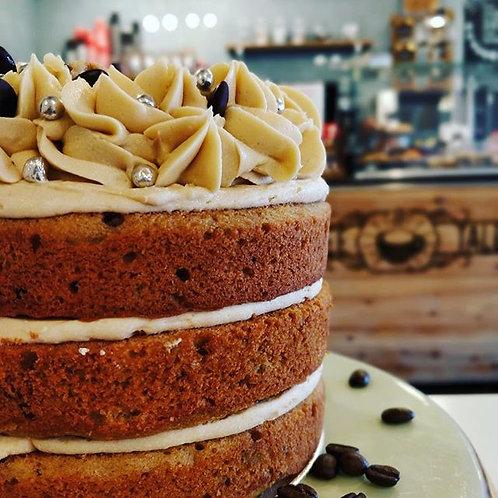 """6"""" Coffee & Walnut Cake"""