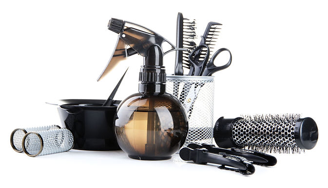 Professional hairdresser tools, isolated