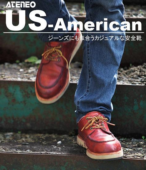 青木安全靴 US-100BK