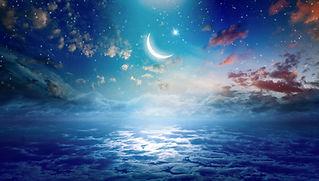 Ramadan Kareem background with crescent