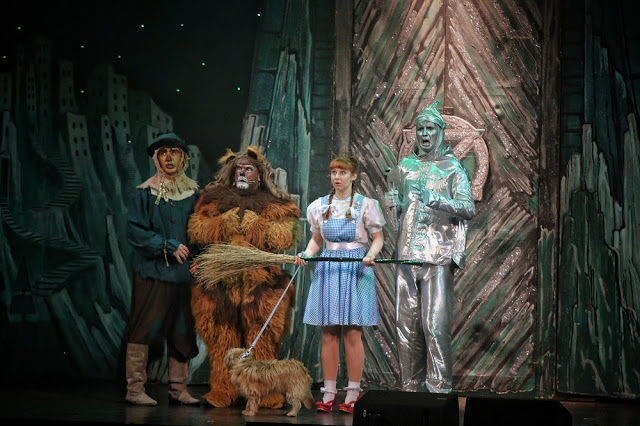 Wizard of OZ cast photo at St Helen's Theatre Liverpool