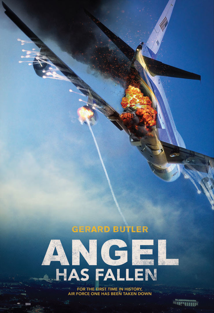 Publicity poster for the feature film Angel Has Fallen starring Gerard Butler