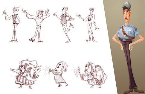 Character Design Rough Explorations