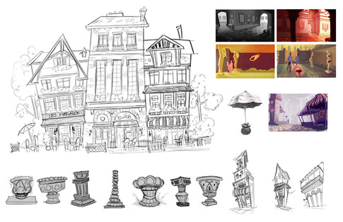 Color Keys and Rough Concept Work