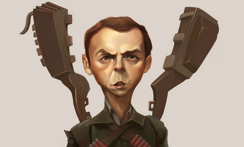 Simon Pegg Caricature