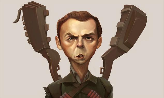 Simon Pegg Caricature
