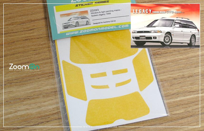 ZD093 Window & light painting masks - Subaru legacy 1998