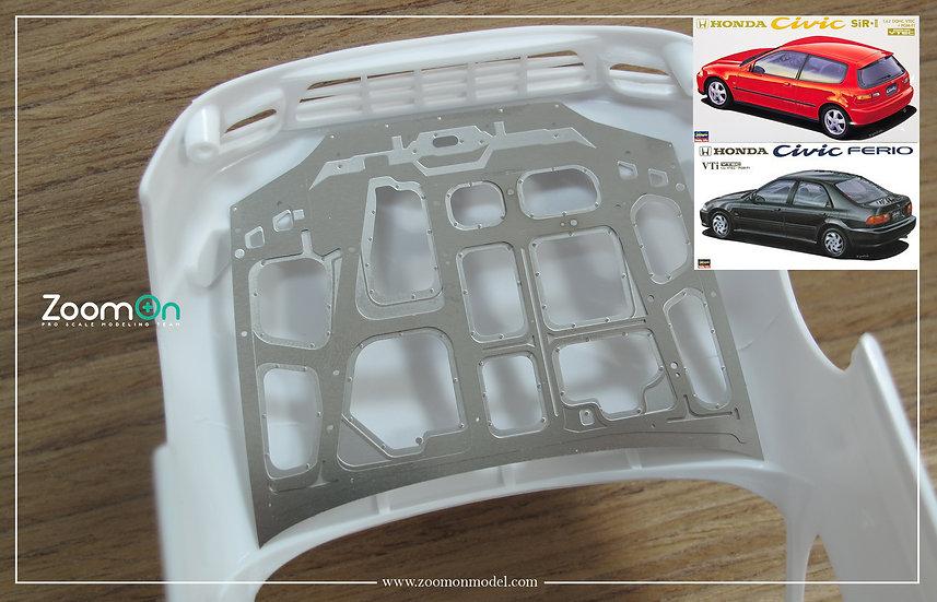 ZD139 Honda Civic EG hood structure