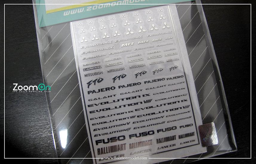 ZD020 Mitsubishi logo metal sticker