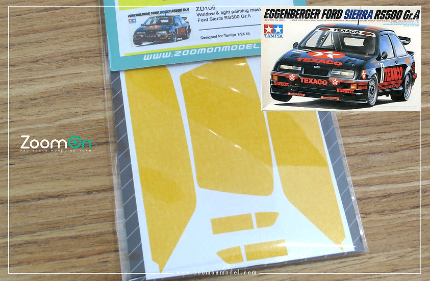 ZD109 Window & light painting masks -  Ford Sierra RS500 Gr.A