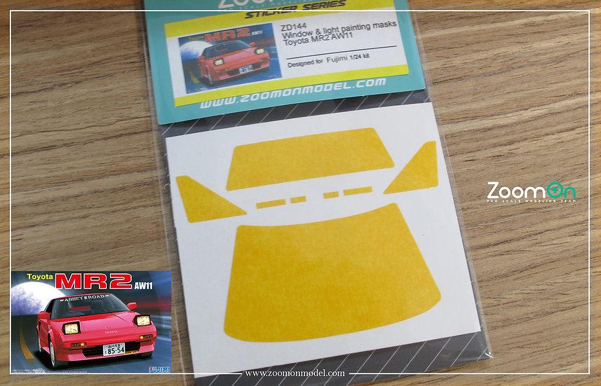 ZD144 Window & light painting masks -  Toyota MR2 AW11