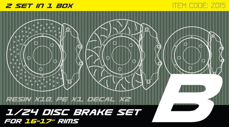 Z015 1/24 Disc brake set B for 15-17'' rims