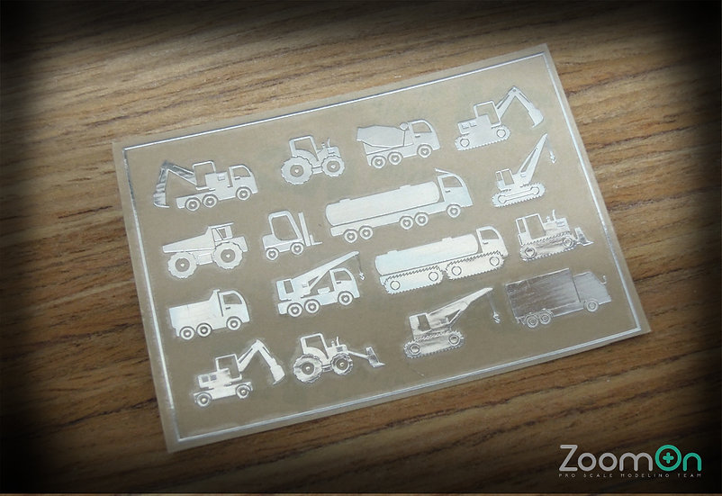 ZD019 Vehicle graphic(B)metal sticker (Large)